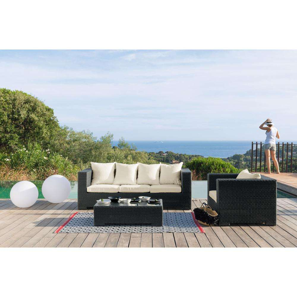 All Weather Garden 4 Peoples Seat Cheap Rattan Corner Sofa Wicker Outdoor Rattan Furniture
