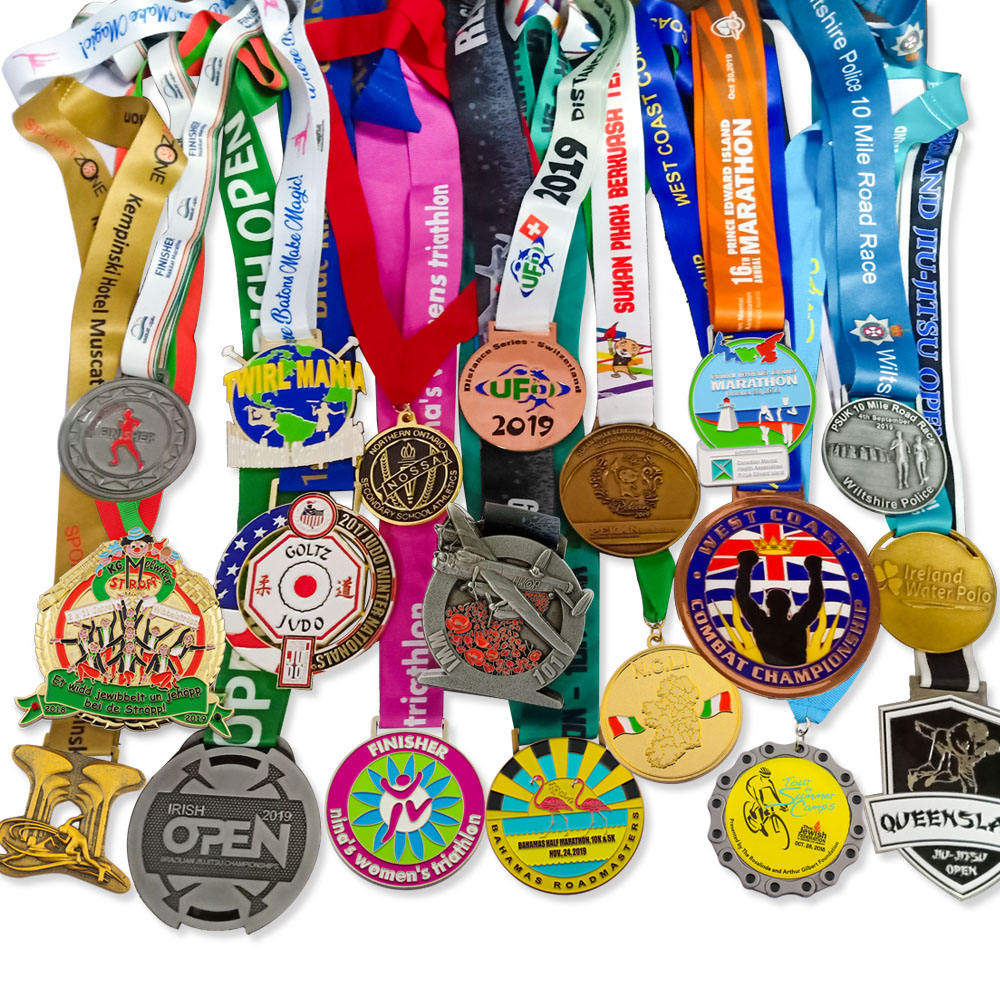 One-Stop Service [ Metal Gold Medal ] Medal Manufacturers Design Custom Color Half Marathon 5k 10k 21k Fun Run Runner Race Finisher Sports Metal Award Gold Medal