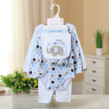 Good price China infant clothes 100% cotton gift set 5 in 1 baby clothing set baby bodysuit