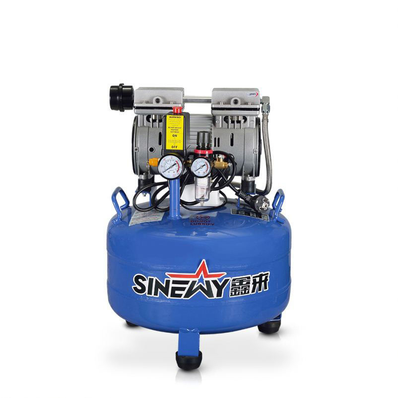 Space saving medical dental mini air compressor with tank