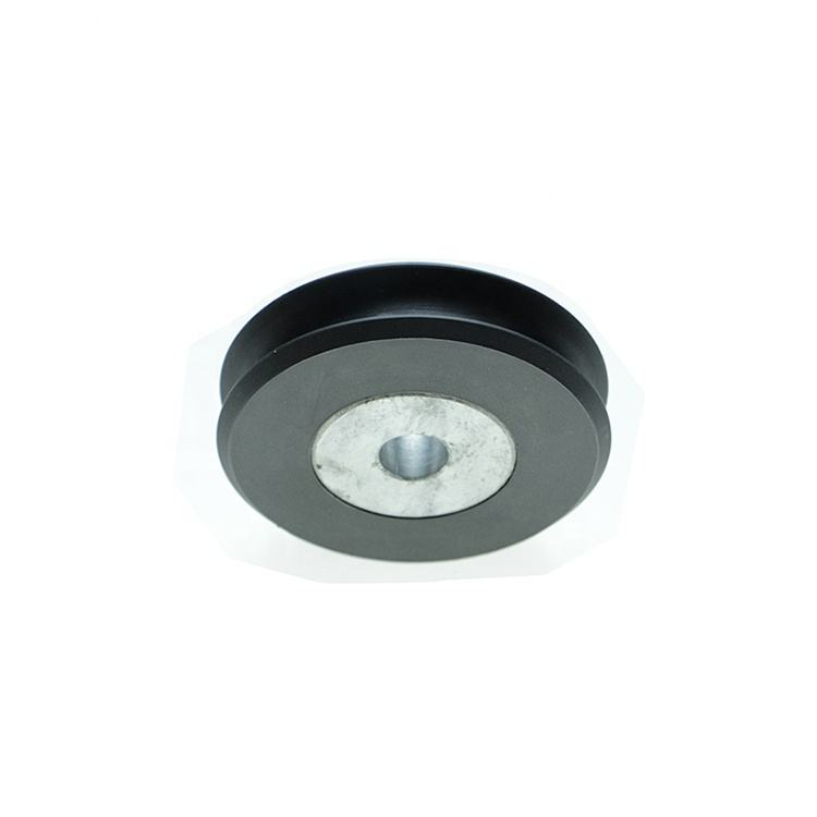 Factory processed black nylon pulley with stainless steel bearing
