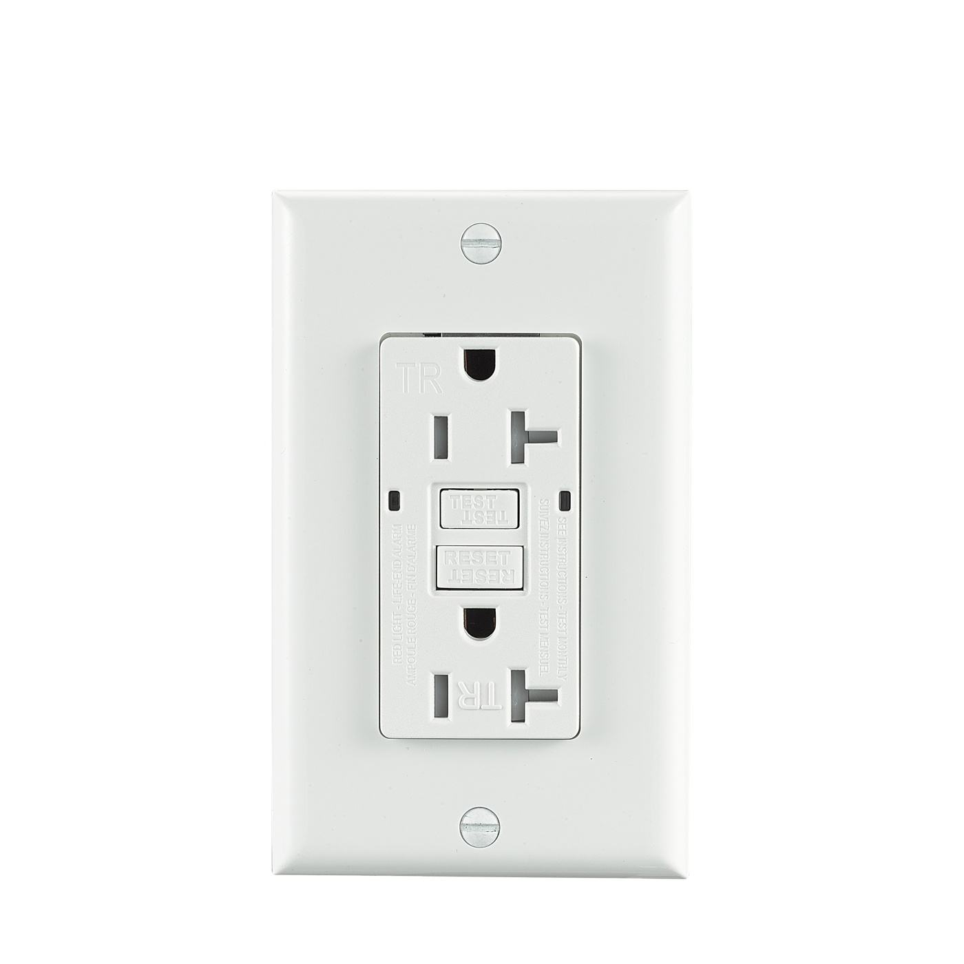 3GRCE Shouxin <span class=keywords><strong>GFCI</strong></span> Outlet/Recepatacle 20A 125V AC 60Hz Temper Resistant Self-Test UL943