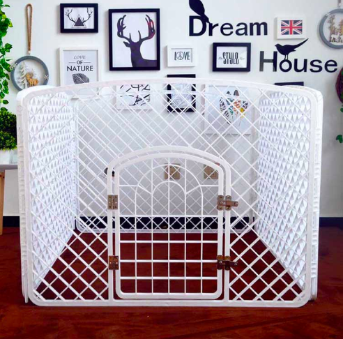 PP plastic 4 panels portable carrier playpens puppy cage fence dog playpen pet fence