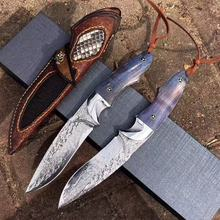 Low MOQ High end damascus handmade hunting knives