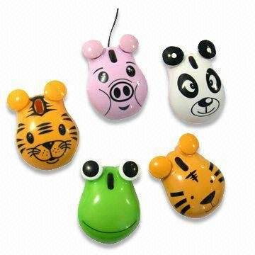 MO7053 Unique Frog design Animal types of computer usb mouse with logo