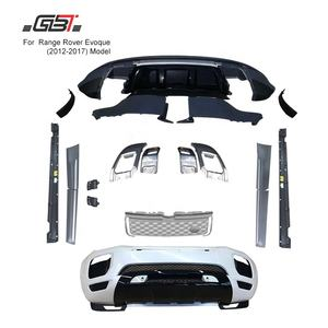 GBT Auto parts with front car bumpers grille and exhaust pipe 2012-2015 upgrade to new 2017 for Land Rover Range rover Evoque