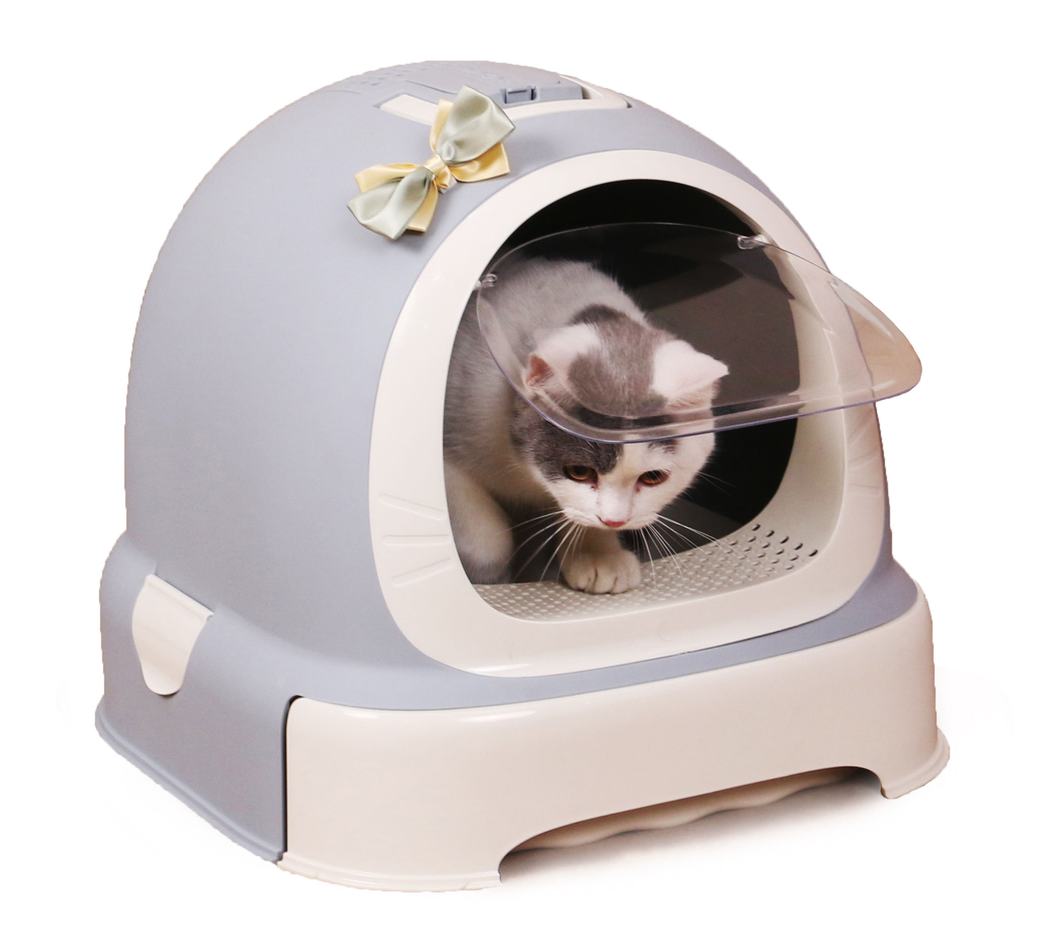 Factory Wholesale Luxury Cat Litter Box Toilet door with handle Cleaning Cat Toilet Box