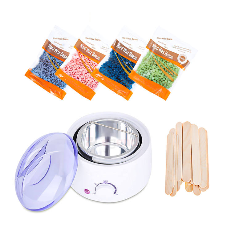 Facial Body Armpit Hair Removal Electric Hot Large Depilatory Wax Warmer Kit