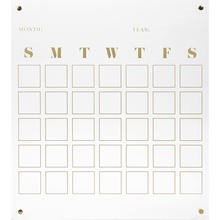 Customize Clear Black Acrylic Weekly Black Board Calendar