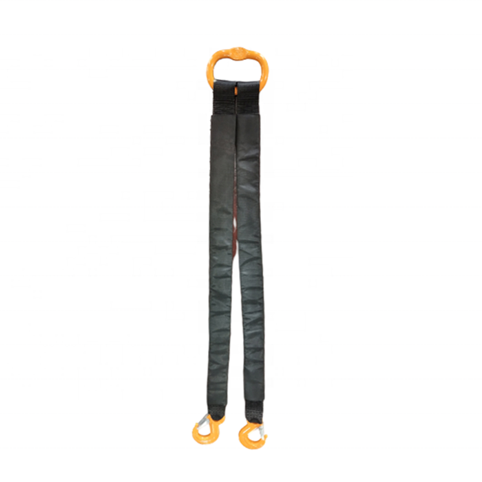 Polyester Sling Supplier 2 Kaki Towing <span class=keywords><strong>Tali</strong></span> dengan G80 Master Link dan Safety Hook