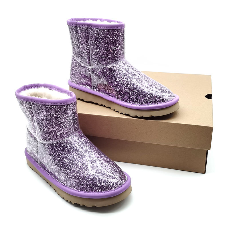 Wholesale women boots fashion glitter women snow rain boots