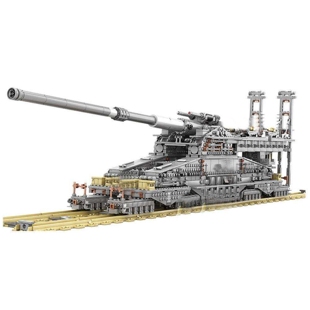 3846Pcs DIY WW2 Military Tank Series Building Block Model Educational Toy Set - Dora Cannon
