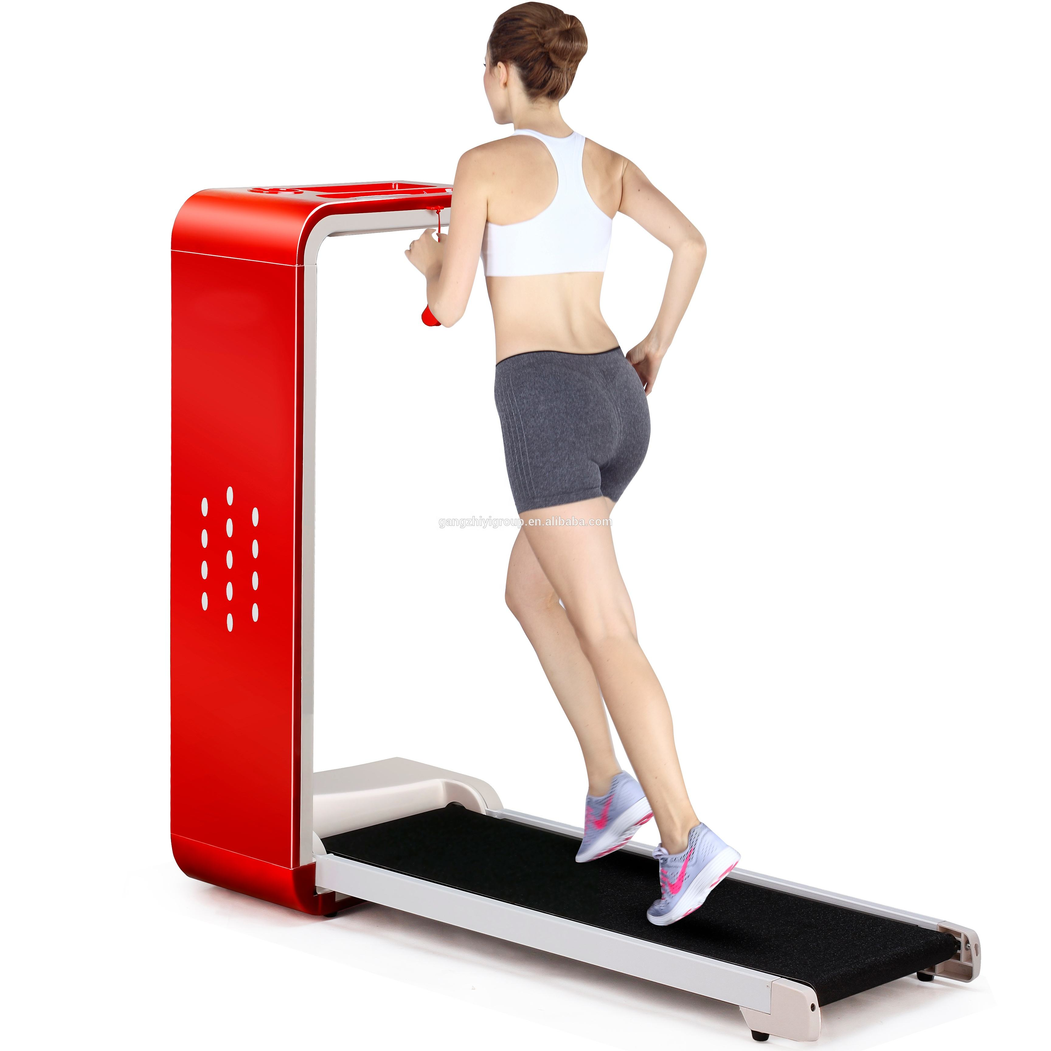 Led display home fitness foldable running machine motorized treadmill