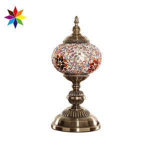 Evershining Lighting Multicolor Contemporary Turkish Mosaic Table Bedside Lamp for Bulk Wholesale YMA402-15