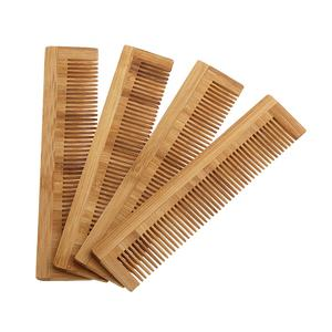 Wholesale hot sell eco-friendly custom logo wooden hotel travel lice wood bamboo hair comb