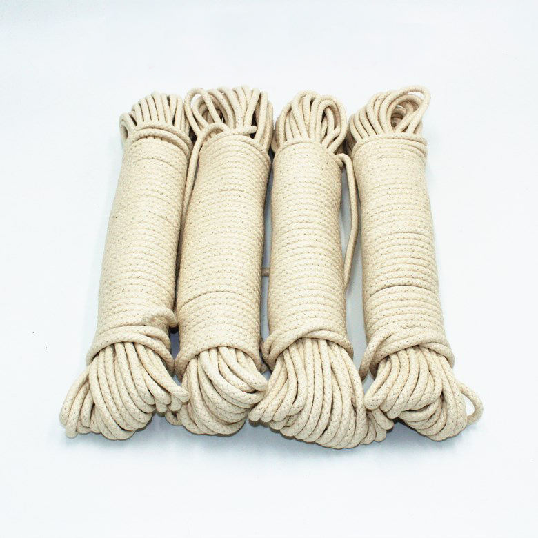 3mm 4mm 5mm Twisted Macrame Cord Natural 8mm Cotton Rope