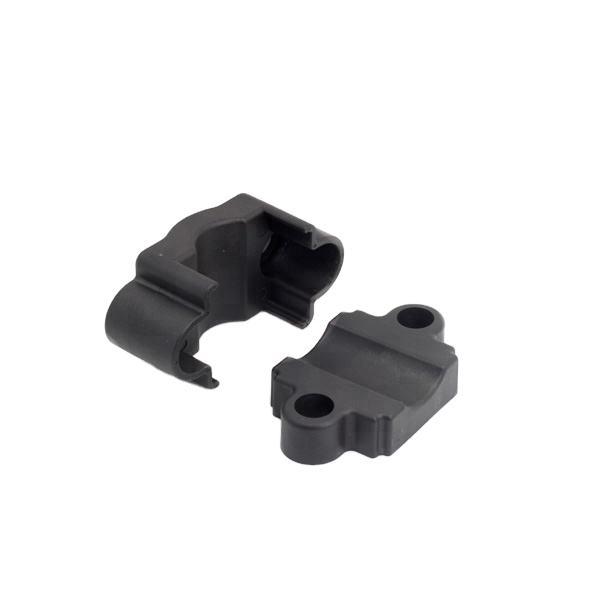 Plastic cable clamps made of insulating material