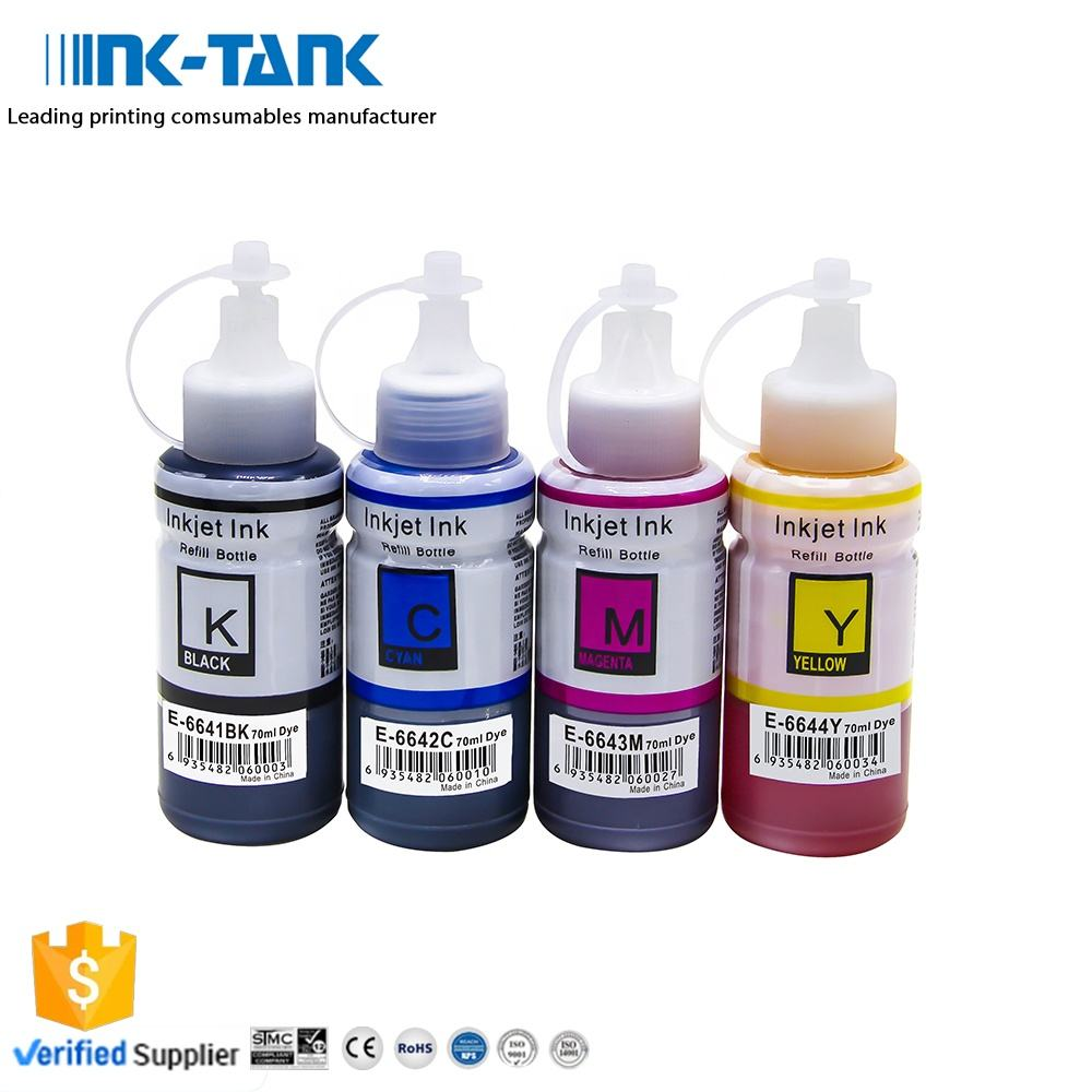 Inks For Printers 664 INK-TANK T 664 T664 T6641 6641 Premium Compatible Color Bulk Water Based Bottle Refill DGT Ink For Epson L130 L120 L100 Printer