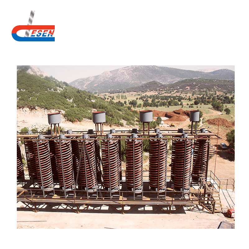 Rutile Ore Spiral Chute Mining equipment for rutile concentrating