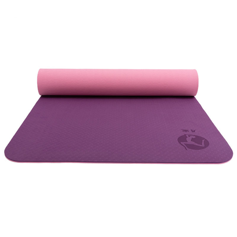 Messa a terra colorato pilates incisione allineamento del corpo eco-friendly antiscivolo 8 millimetri stuoia di yoga del tpe e matt dalla Cina oem