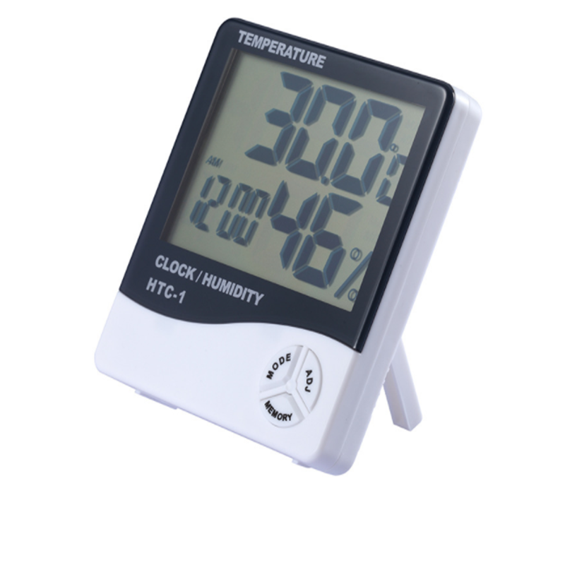 Digitale Temperatuur Vochtigheid Meter Thuis Indoor Outdoor Hygrometer Thermometer Super Led Weerstation met Klok