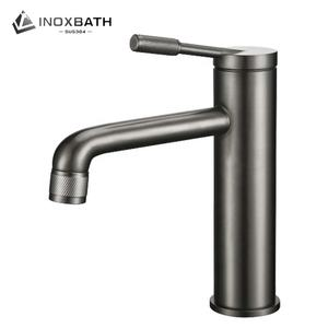 New Design With Popular Elements Graphite Color Rose Work Basin Faucet