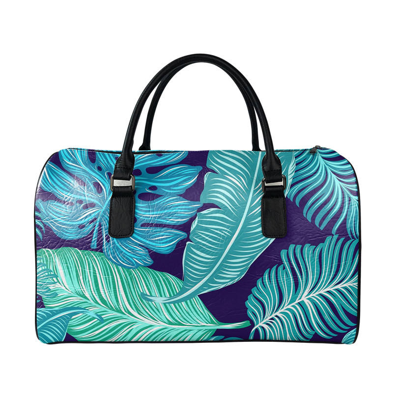 Palm Trees Tropical Print Unisex Duffel Bags Waterproof Gym Leather Bag Travel For Women Men