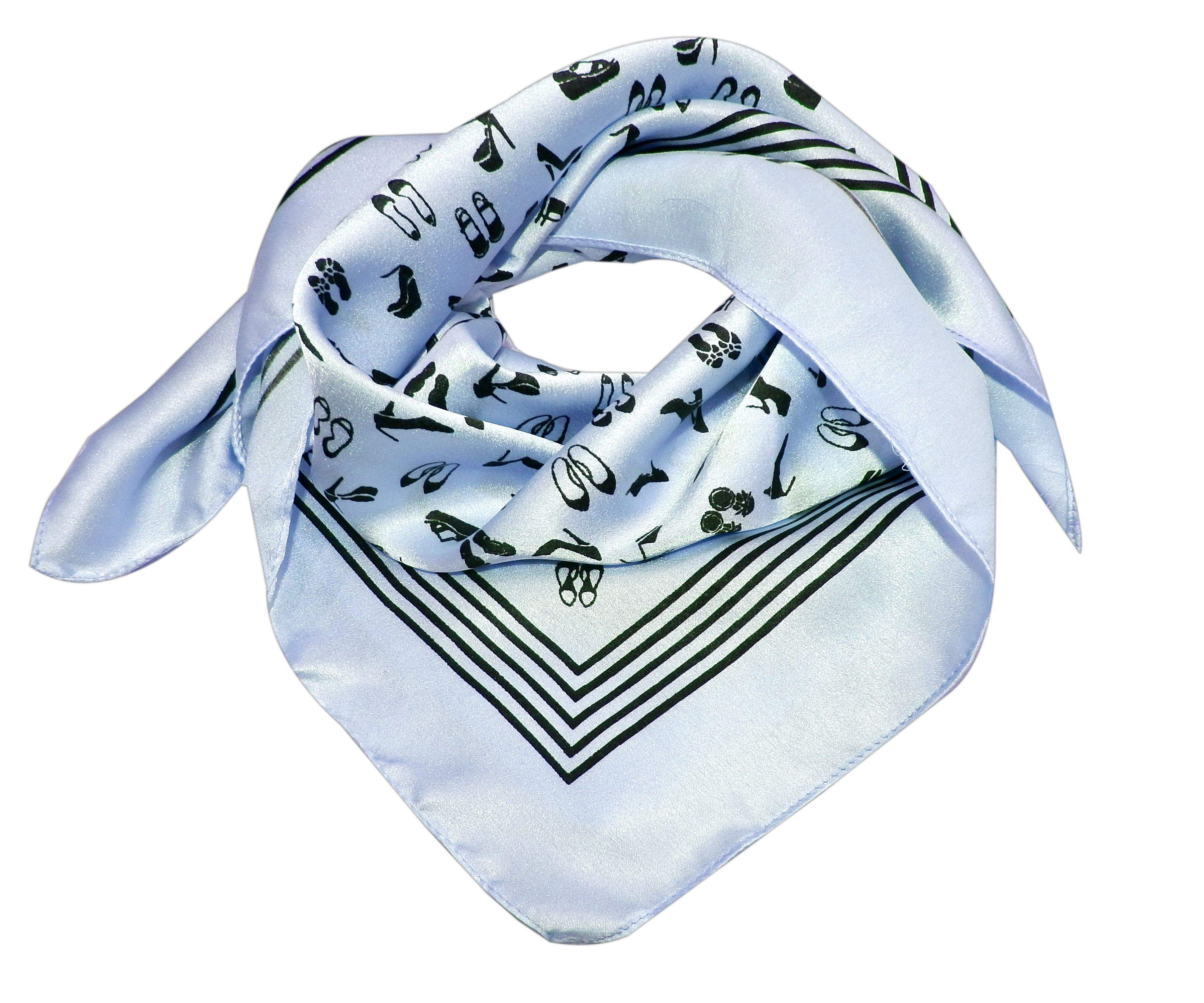 Fashion custom satin bandana square shape silk like bandana