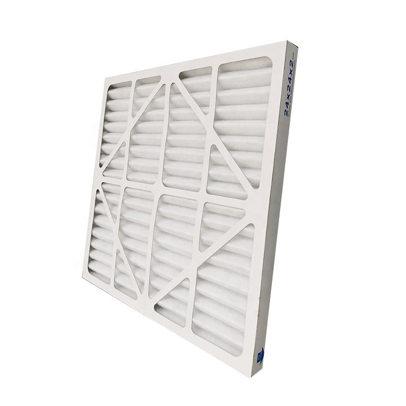 Customized Paper Cardboard Folded Panel Primary Filter Cotton G4 Pre Air Filter Replacement for Ventilation System