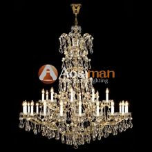 Luxury Lighting Gold Chandeliers Pendant For Banquet Bobby
