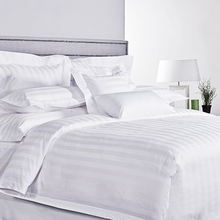 Luxury 5 Star Hotels Embroidered 100% Cotton Percale Kind Bed Sheet Linen White Hotel Bedsheet