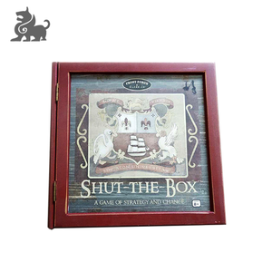 Shut the Box board game box printing square wooden game box