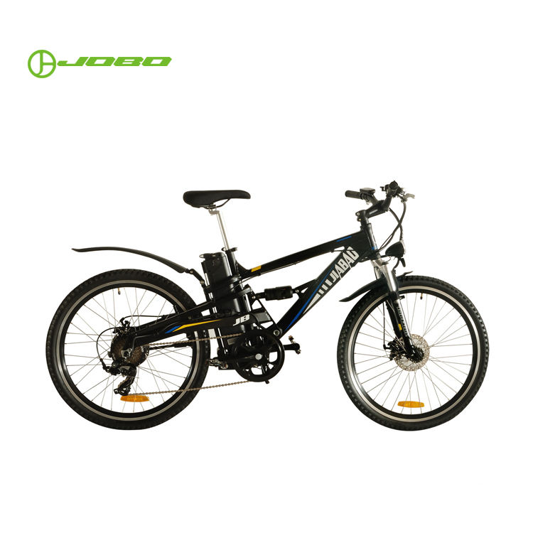 Portable Lithium Battery Full Suspension Electric Mountain Bike