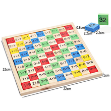 Amazon Hot Selling Math Learning Tools Montessori Teach Toy Wooden Times Table Board