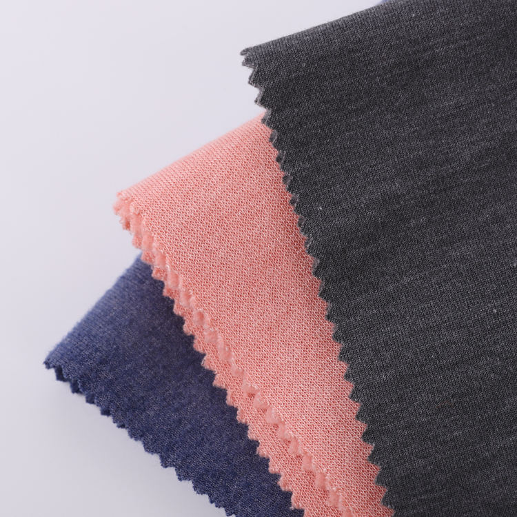 Custom Brushed Sueded Peach Finished Knitted French Terry Polyester Fleece Fabric For Garment Trousers