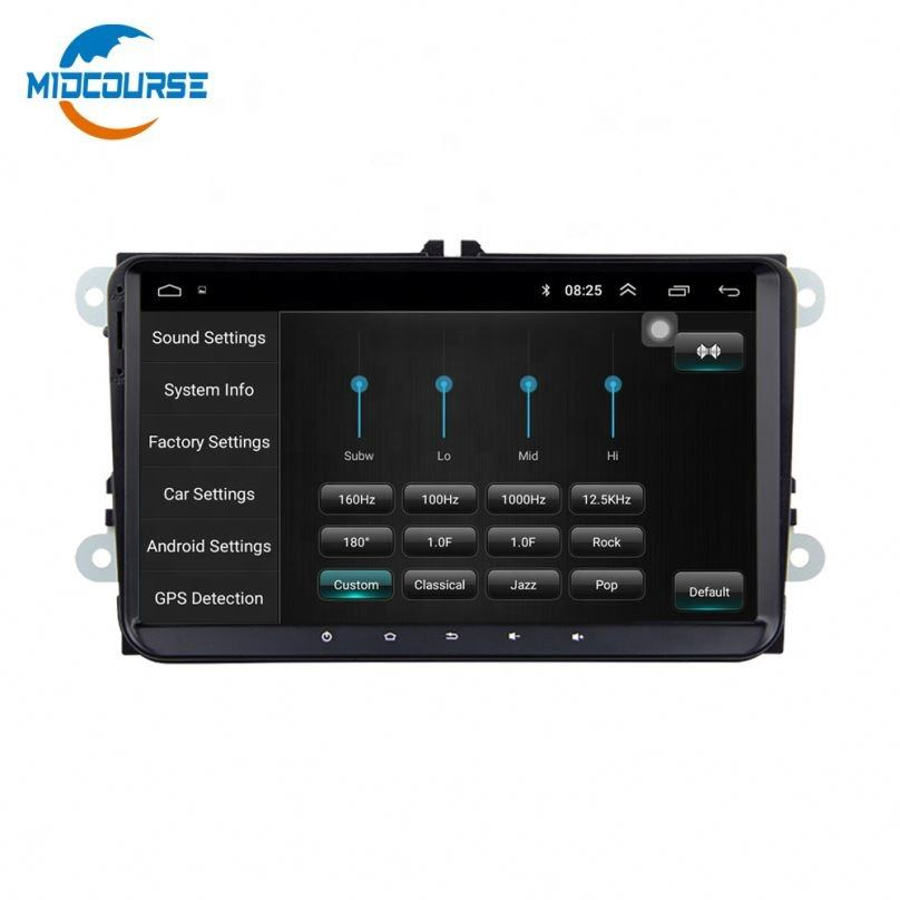 MIDCOURSE Android 8,1 8'' 2 Din Autoradio Auto Radio Auto DVD Player GPS Wifi <span class=keywords><strong>Bluetooth</strong></span> Empfänger Für <span class=keywords><strong>VW</strong></span> <span class=keywords><strong>PASSAT</strong></span> POLO GOLF 5 6
