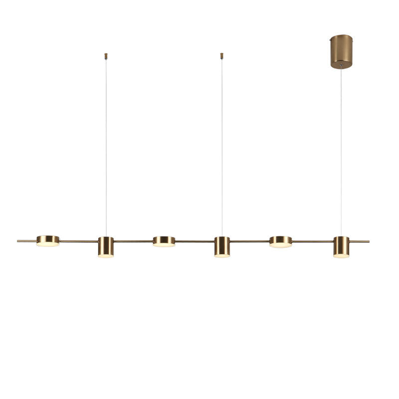 Fashion Creative Modern Simple Dining Room Lamp Three End Long Strip Chandelier Bar Table Study Nordic Chandelier