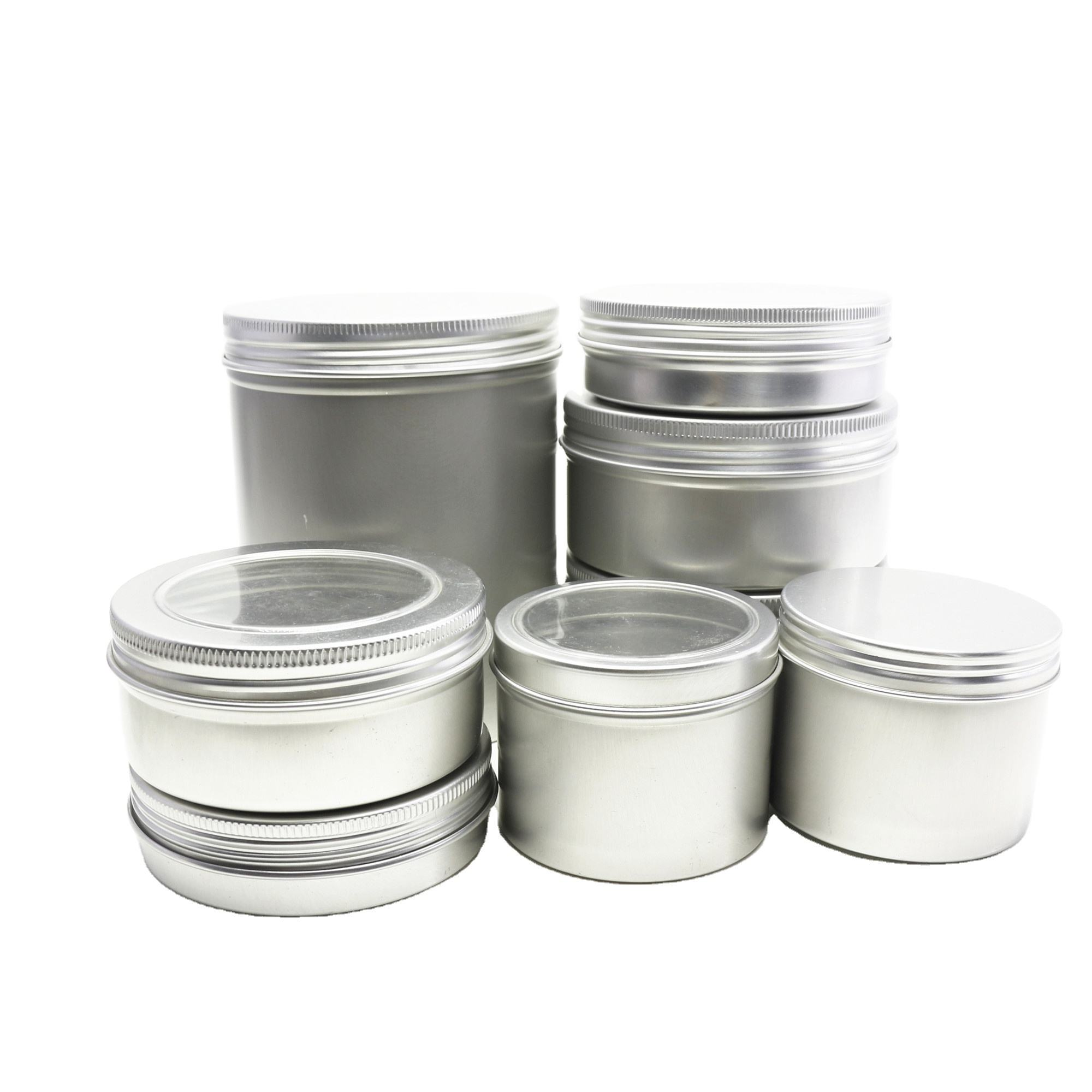 5ml10ml15m20ml30ml50ml60ml80ml100ml150ml200ml300ml500ml750ml1000ml wax cosmetic tea candle aluminum jar Tin box AT-67K