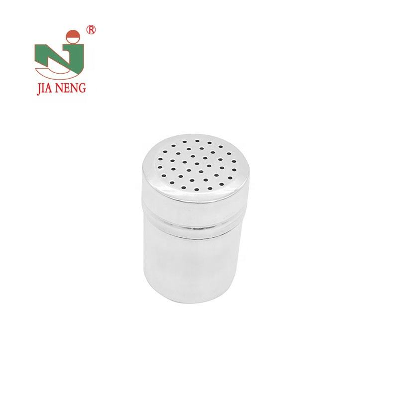 Stainless Steel Sugar Salt Chocolate Powder Seasoning Pepper Shaker for Storing Barbecue Seasoning Spices