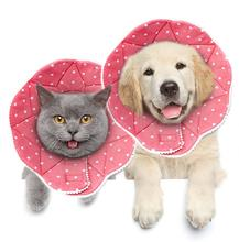 Fashion Soft Pet Dog Cat Hood Collar Adjustable Wound Healing Cone Anti-bite Collar Lick for Dog and cats Pet