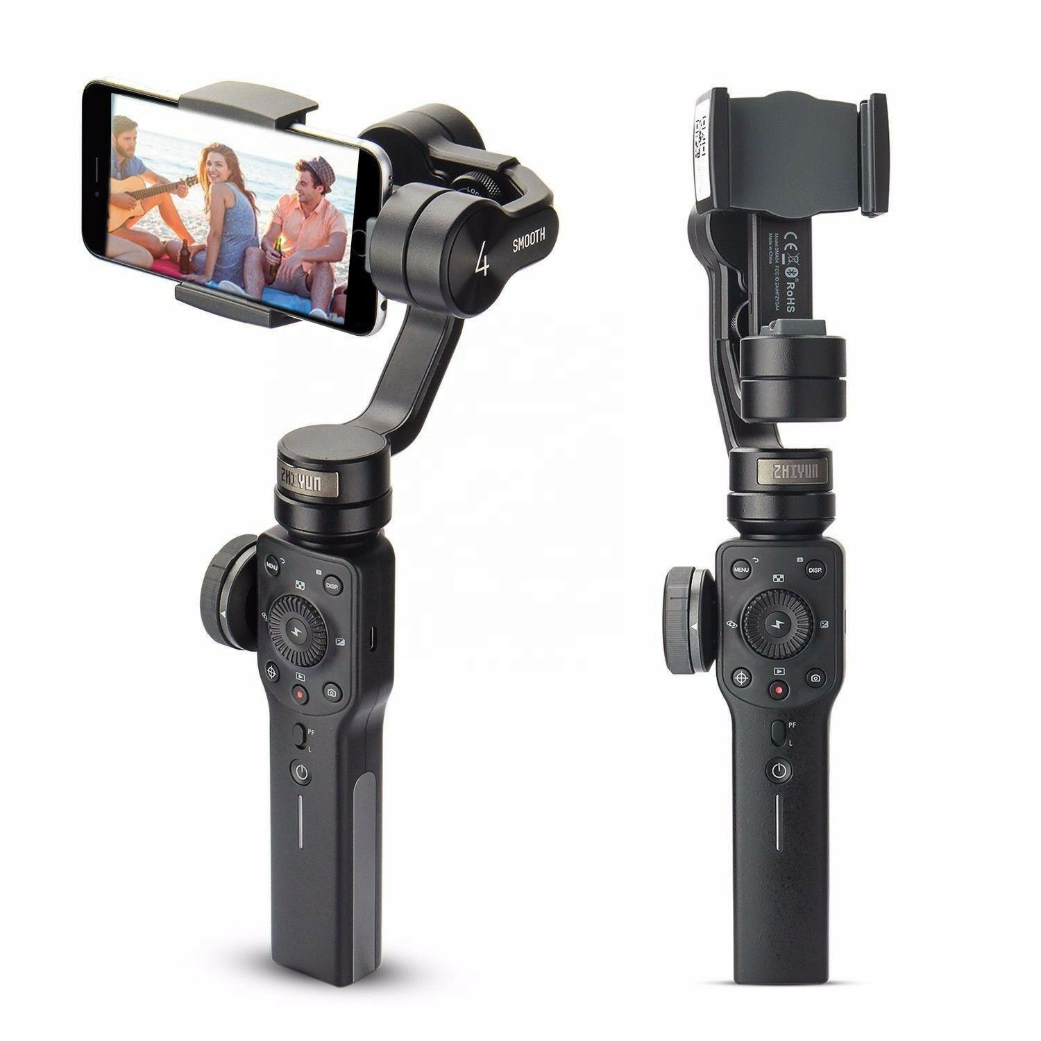 Zhiyun Smooth 4 3-Axis Handheld Gimbal Stabilizer w/Focus Pull & Zoom For IOS Android Smartphone