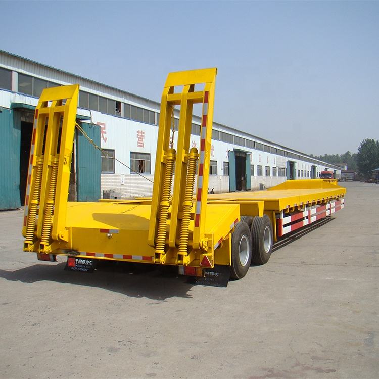 Best Price 50-100ton Low Bed And Lowboy Gooseneck Semi Truck Trailers