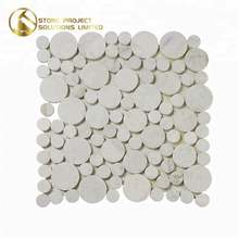 Professional Seller Penny Round Wall Marble Polygon White Mosaic Tile For Hotel Project