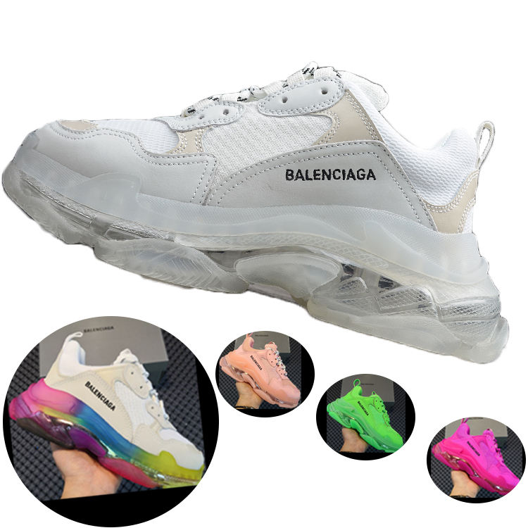 2020 Unique U. S. A Triple S Shoe Leather Clear Designer Famous Brands Fashion White Balencia Sneakers Men imported from china