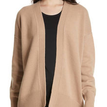 High luxury quality women 100% pure cashmere long cardigan coat sweater
