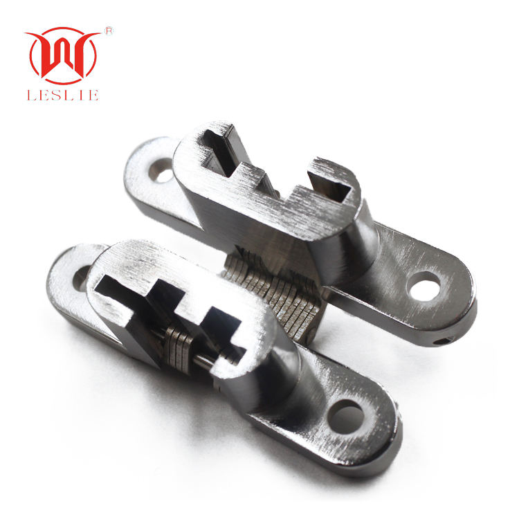 12*61mm Curved Hinge Cross Mortise Mounted holes concealed Hinge for Kitchen Door