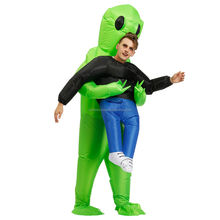High Quality adult kids funny blow up suit party fancy dress unisex costume halloween inflatable alien costume