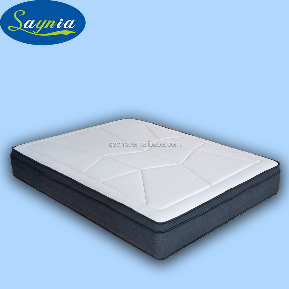 Chinese supplier Visco elastic memory foam 7 zone pocket spring home furniture mattress