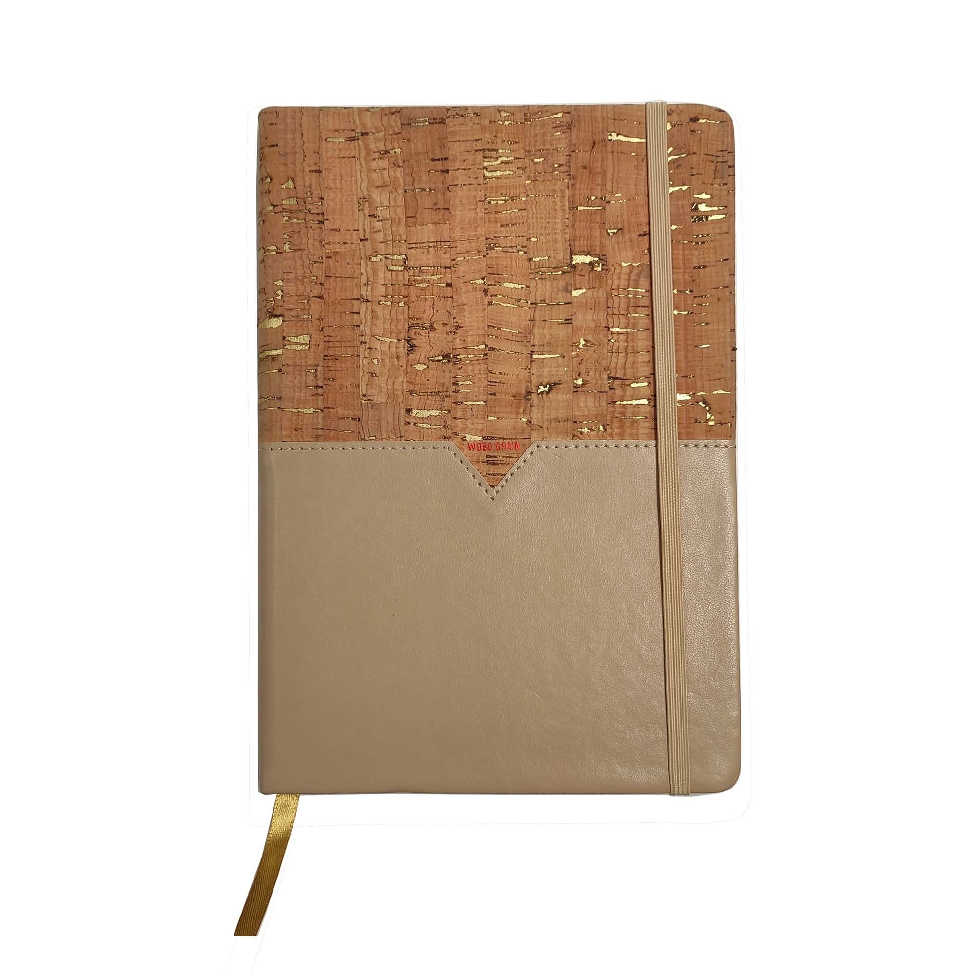 Wholesale Natural vegan custom eco-friendly cork travel journal diary notebook