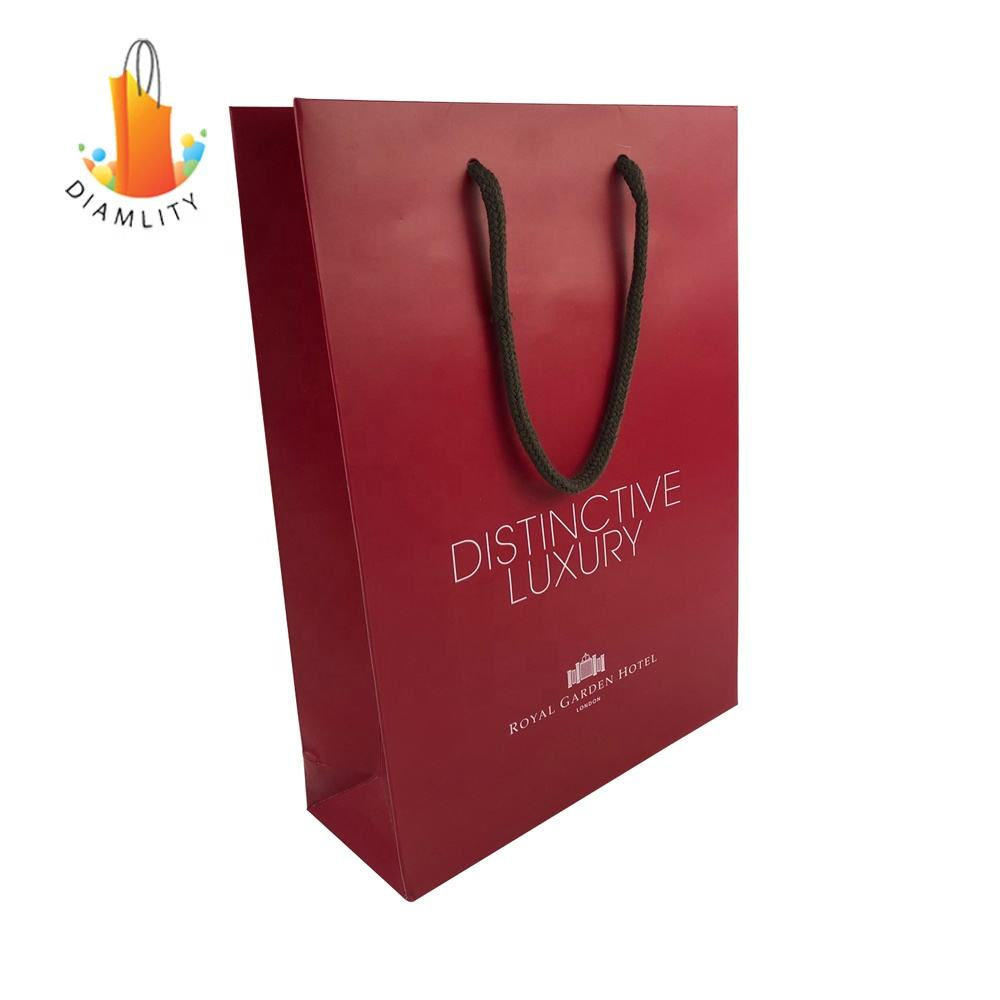 Hand Length Handle [ Bag ] Cheap Gift Bags 2017 Custom Cheap Gift Paper Shopping Bag With Logo Design